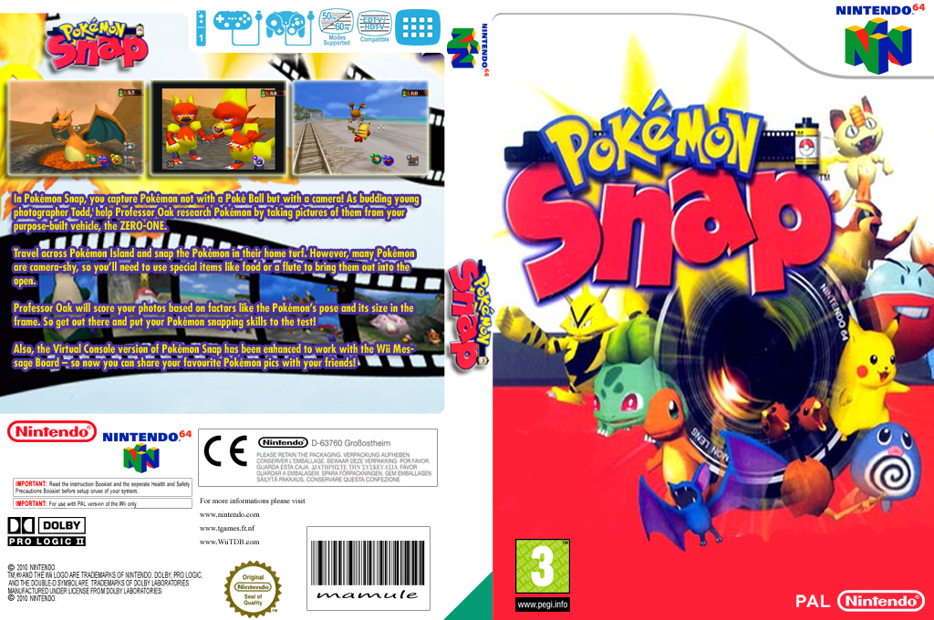 Pokémon Snap Wii coverfullHQ (NAKP)