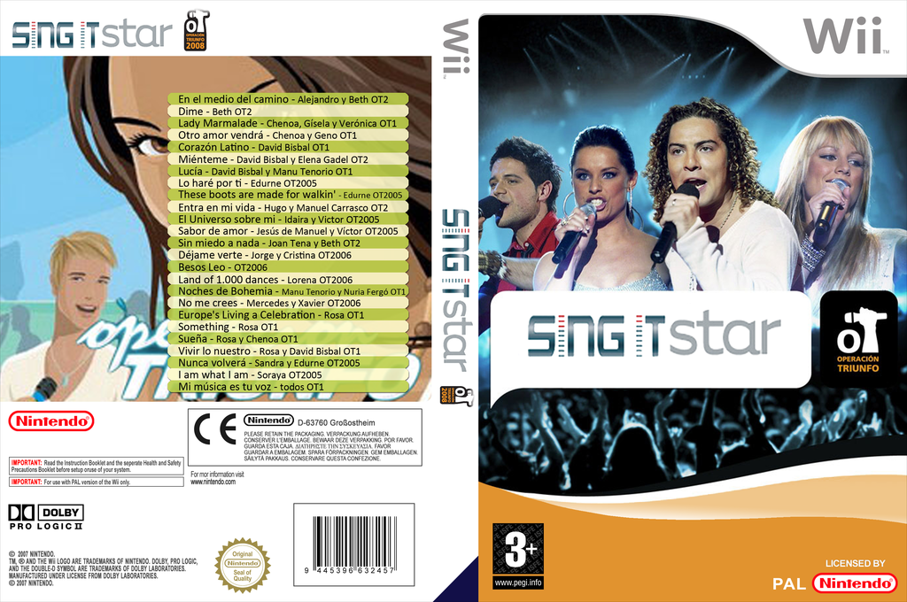 Sing IT: Operación triunfo Wii coverfullHQ (OTFPSI)