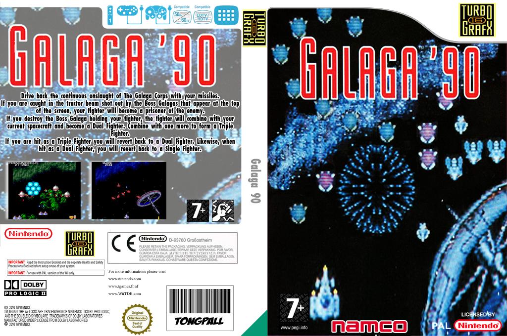 Galaga'90 Wii coverfullHQ (PAWP)