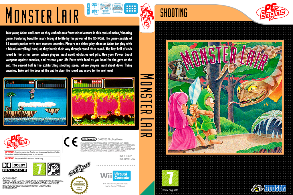 Monster Lair Wii coverfullHQ (QAUP)