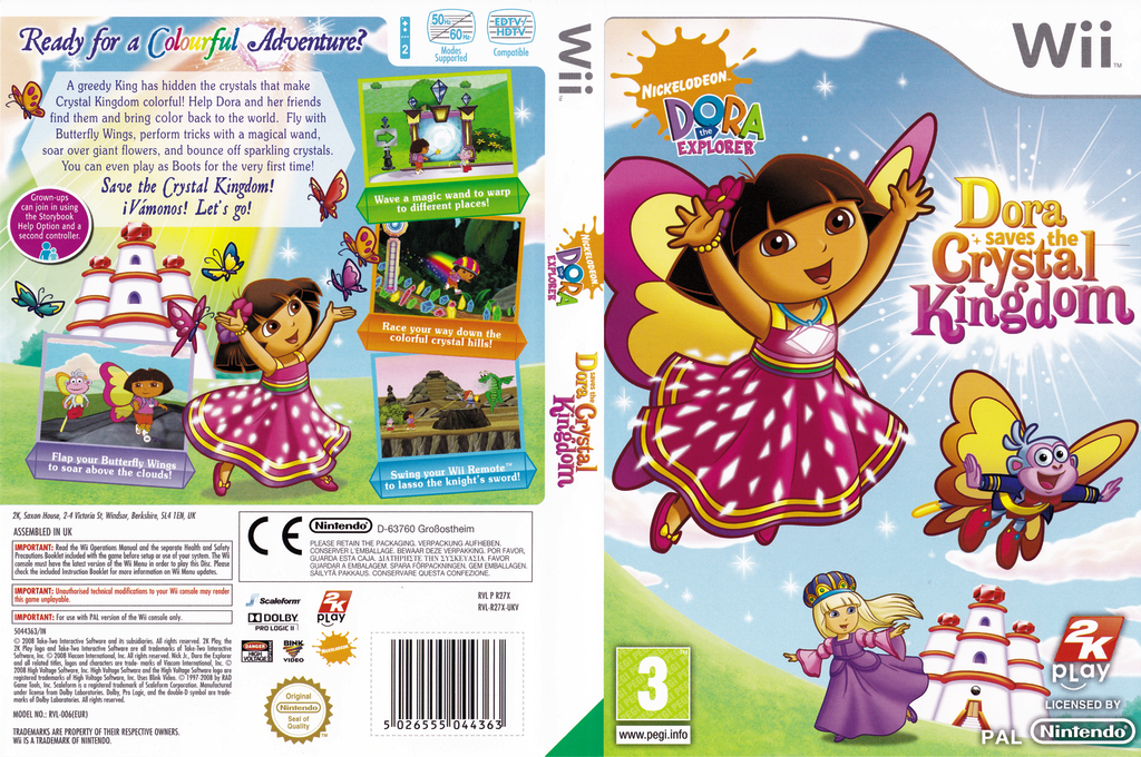 Dora Saves the Crystal Kingdom Wii coverfullHQ (R27X54)