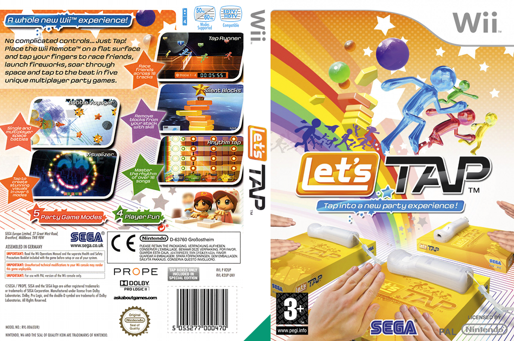 Let's Tap Wii coverfullHQ (R2UP8P)