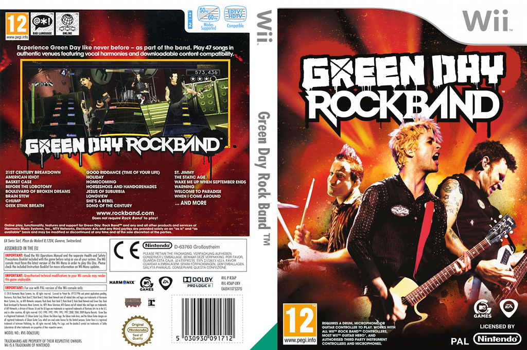 Green Day: Rock Band Wii coverfullHQ (R36P69)