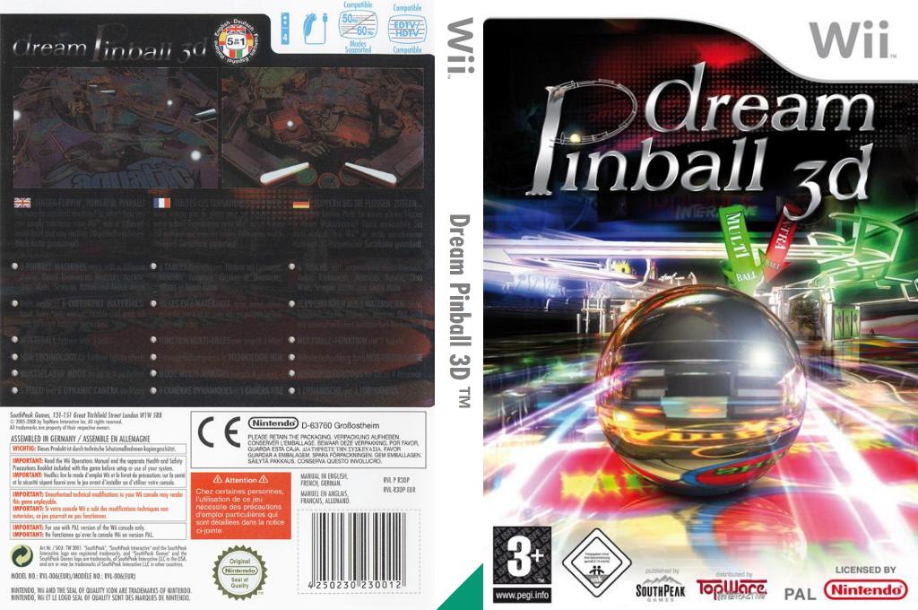 Dream Pinball 3D Wii coverfullHQ (R3DPS5)