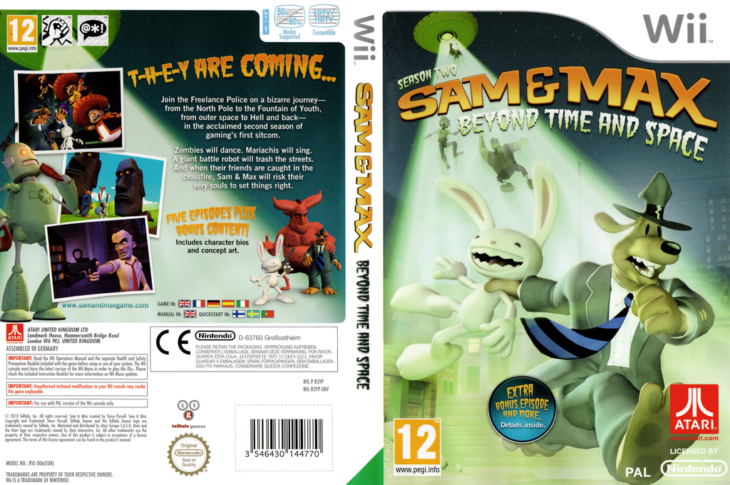 Sam & Max: Season Two: Beyond Time and Space Wii coverfullHQ (R3YP70)