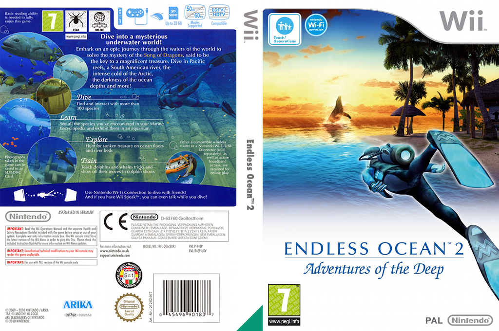 Endless Ocean 2: Adventures of the Deep Wii coverfullHQ (R4EP01)