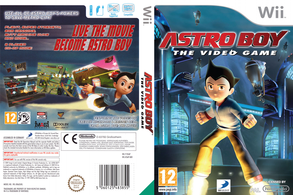Astro Boy: The Video Game Wii coverfullHQ (R56PG9)