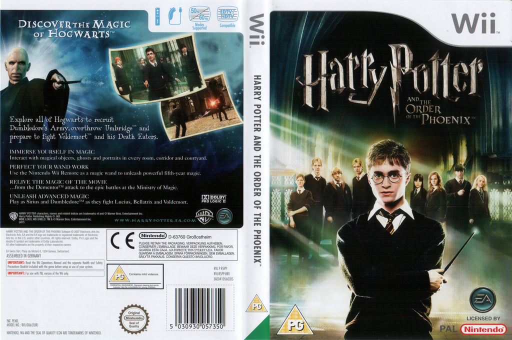Harry Potter and the Order of the Phoenix Wii coverfullHQ (R5PP69)