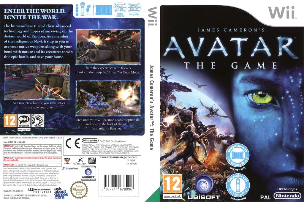 James Cameron's Avatar: The Game Wii coverfullHQ (R5VP41)