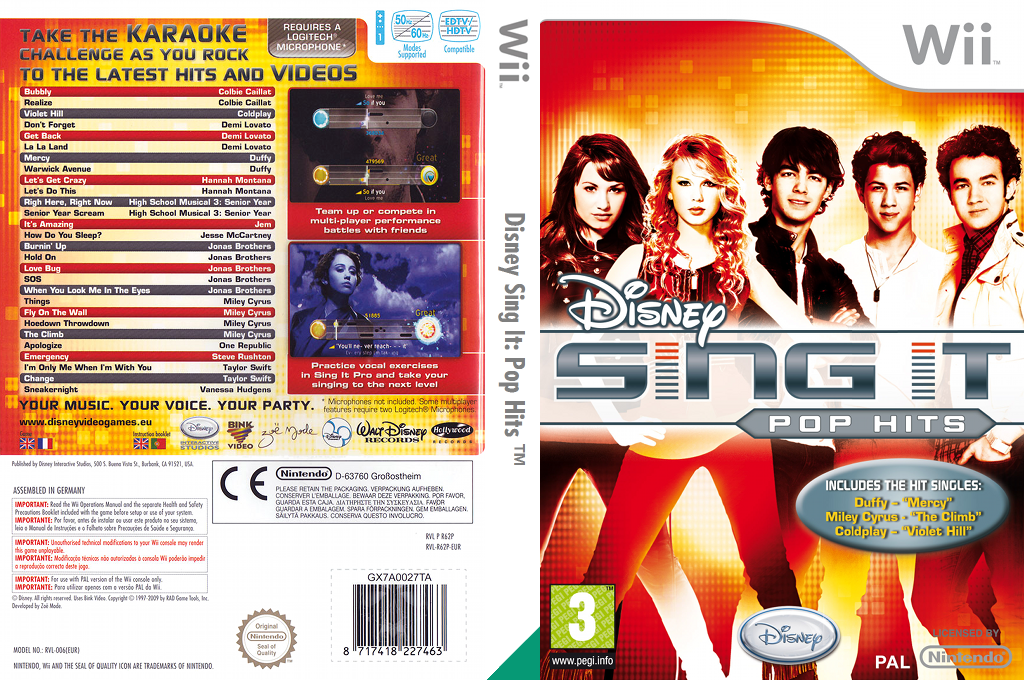 Disney Sing It: Pop Hits Wii coverfullHQ (R62P4Q)