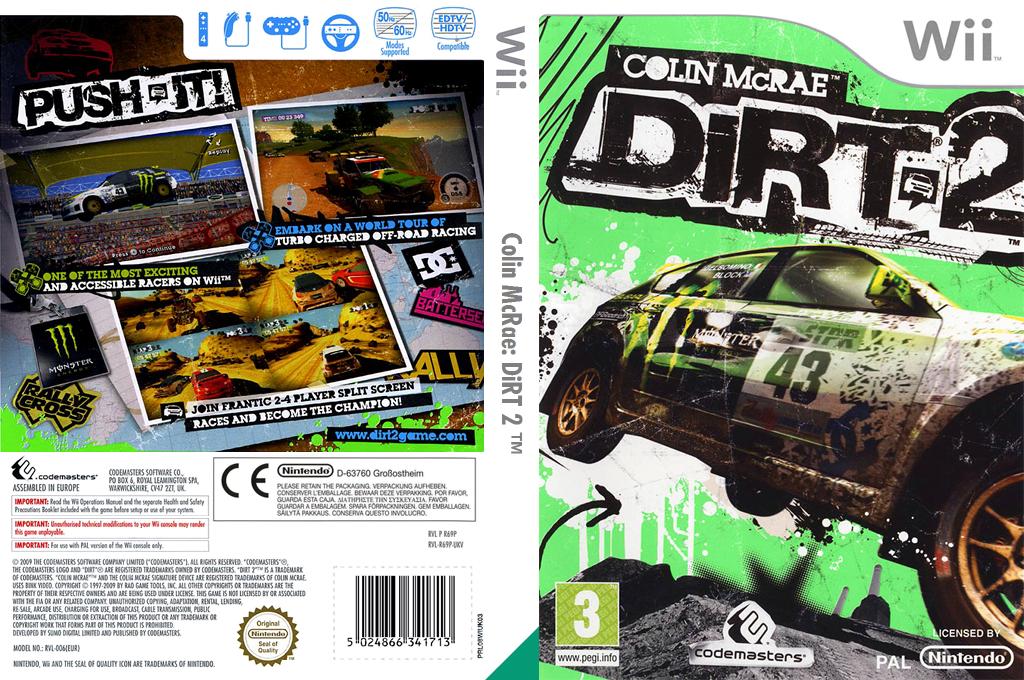 Colin McRae: DiRT 2 Wii coverfullHQ (R69P36)