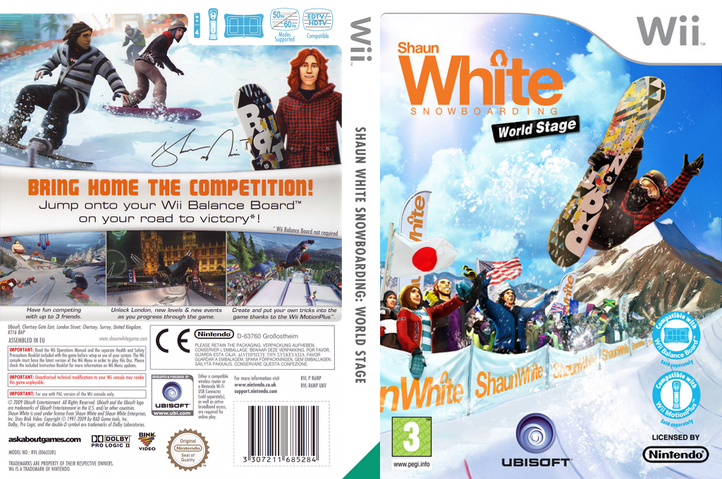 Shaun White Snowboarding: World Stage Wii coverfullHQ (R6NY41)