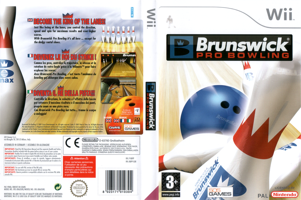 Brunswick Pro Bowling Wii coverfullHQ (RBPPGT)