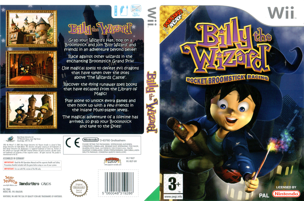 Billy the Wizard: Rocket Broomstick Racing Wii coverfullHQ (RBZXUG)