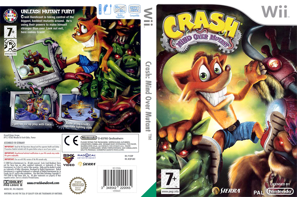 Crash: Mind Over Mutant Wii coverfullHQ (RC8P7D)