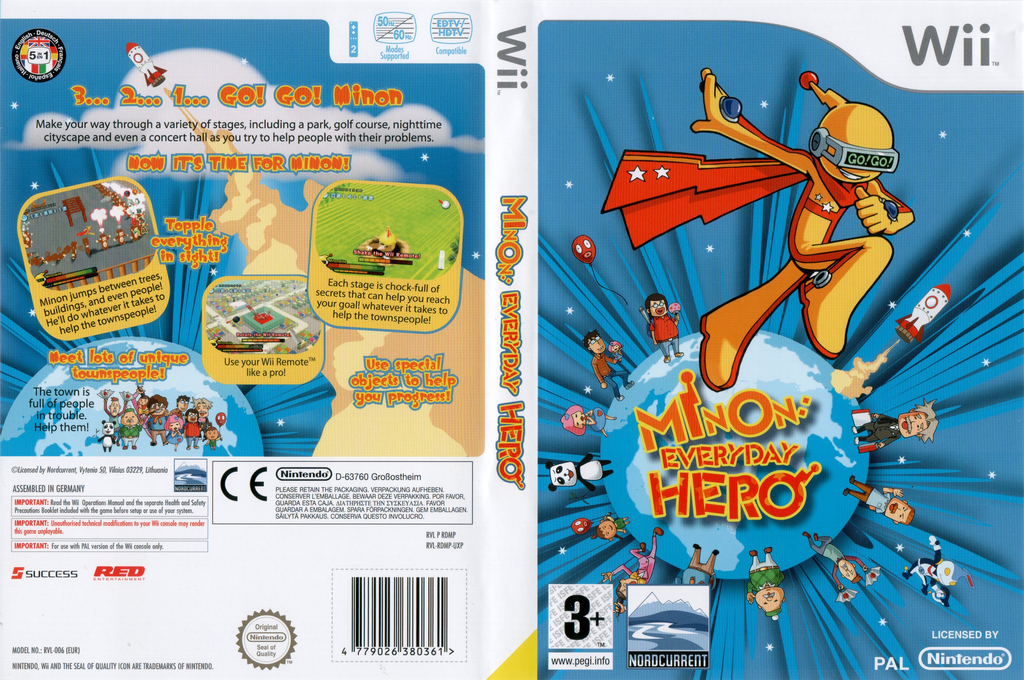 Minon: Everyday Hero Wii coverfullHQ (RDMPHZ)