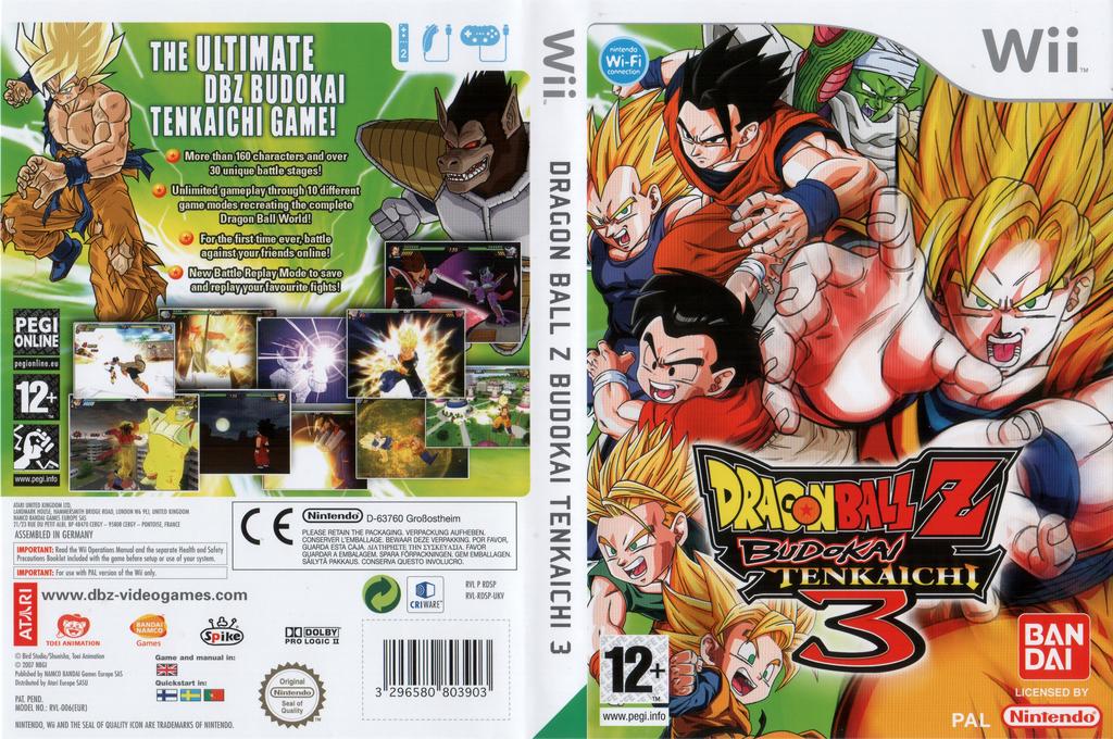 Dragon Ball Z: Budokai Tenkaichi 3 Wii coverfullHQ (RDSPAF)