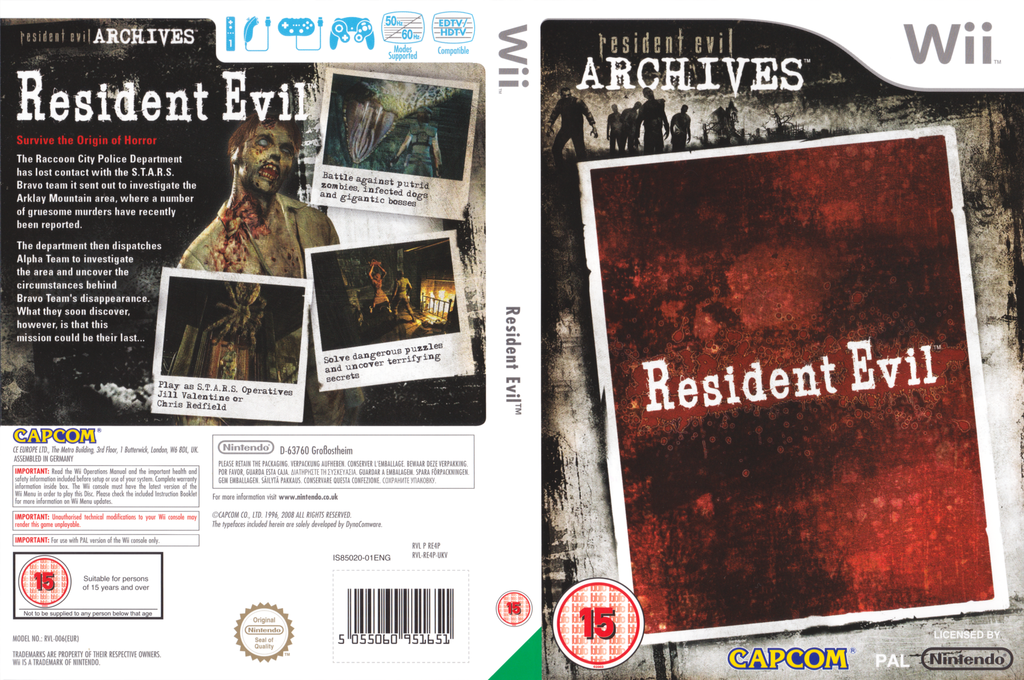 Resident Evil Archives: Resident Evil Wii coverfullHQ (RE4P08)