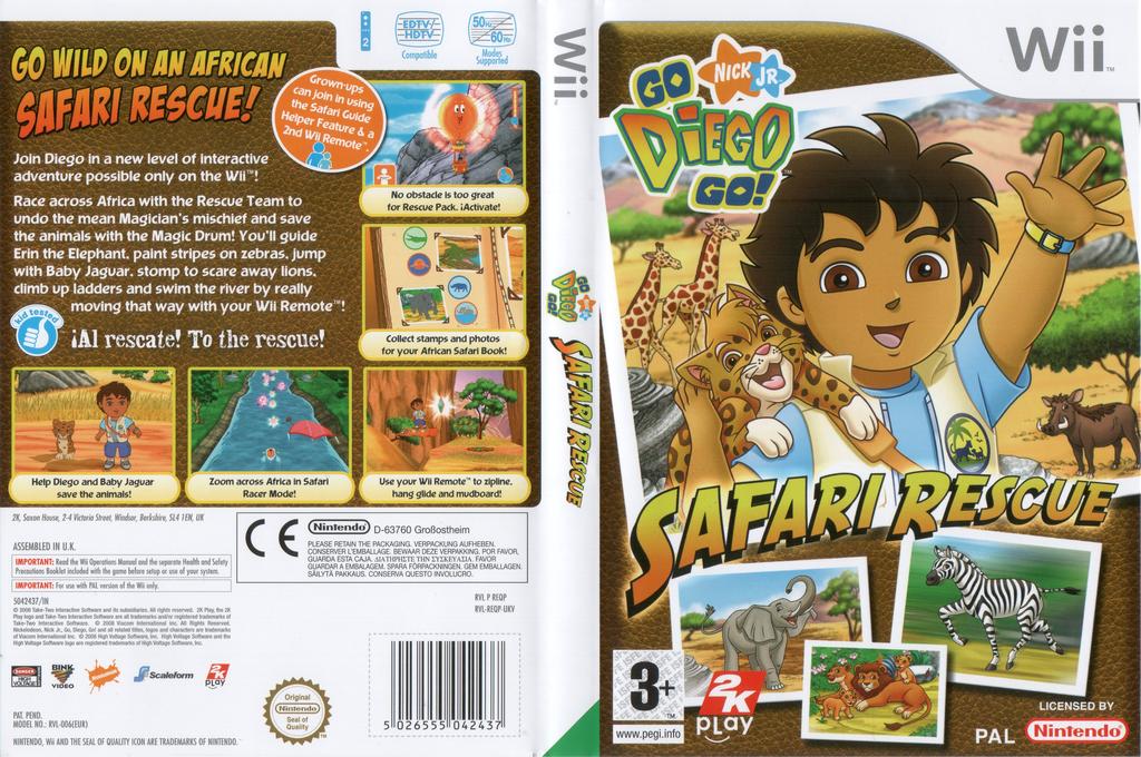 Go, Diego, Go! Safari Rescue Wii coverfullHQ (REQP54)