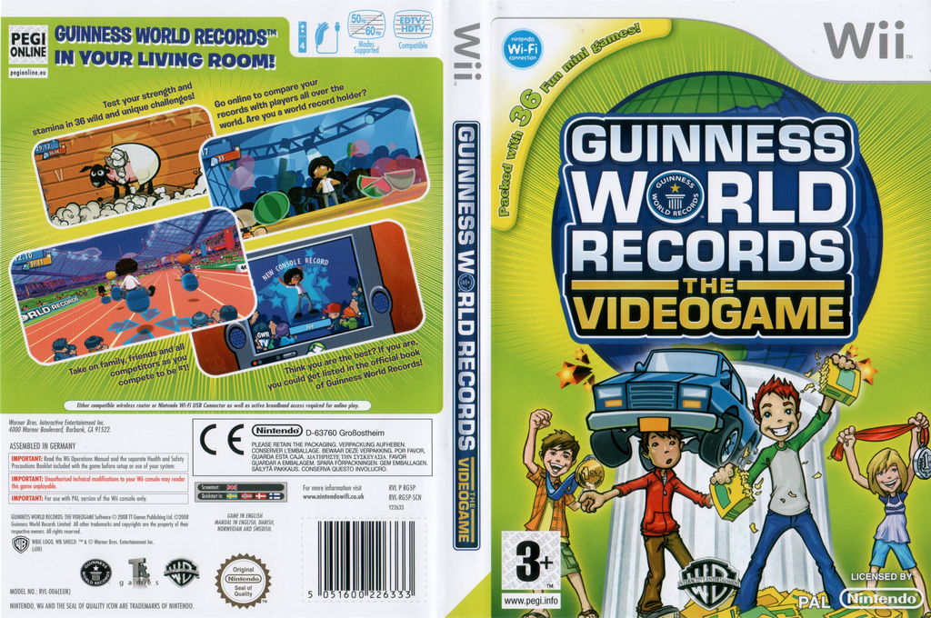 Guinness World Records: The Videogame Wii coverfullHQ (RG5PWR)
