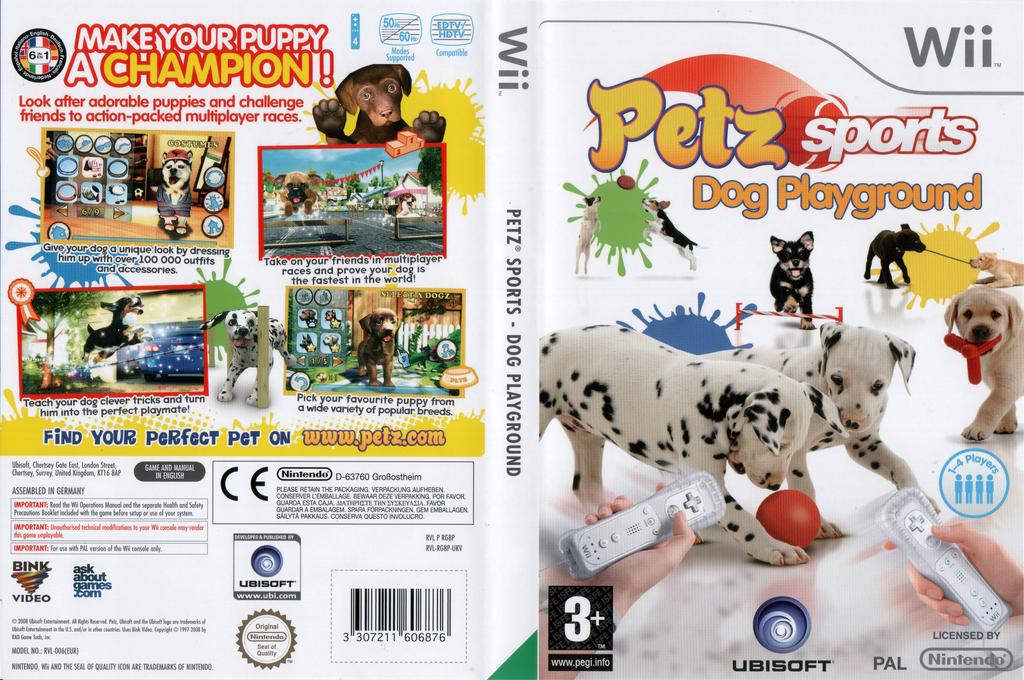 Petz Sports: Dog Playground Wii coverfullHQ (RG8P41)