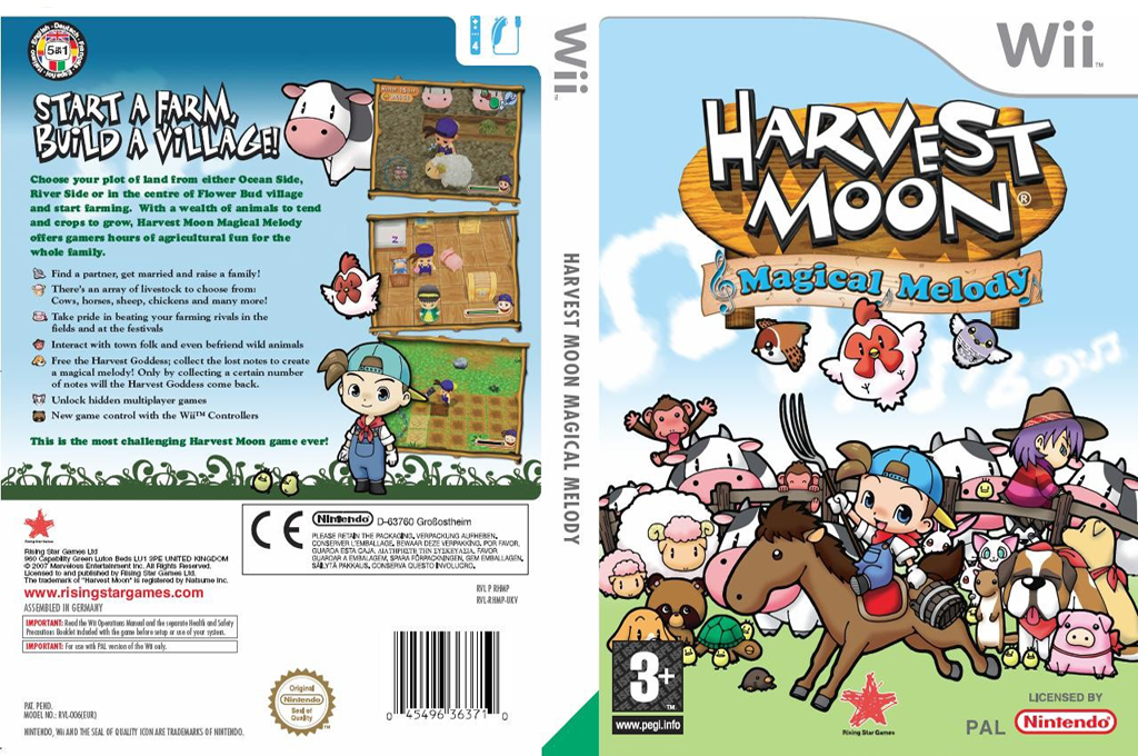 Harvest Moon: Magical Melody Array coverfullHQ (RHMP99)