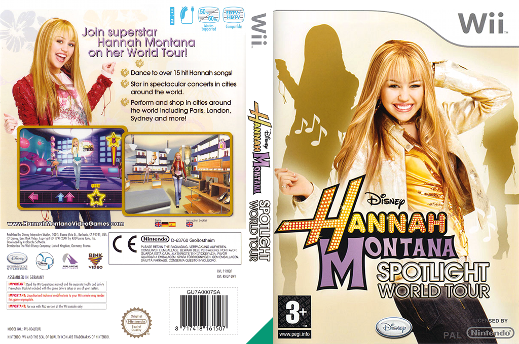 Hannah Montana: Spotlight World Tour Wii coverfullHQ (RHQY4Q)