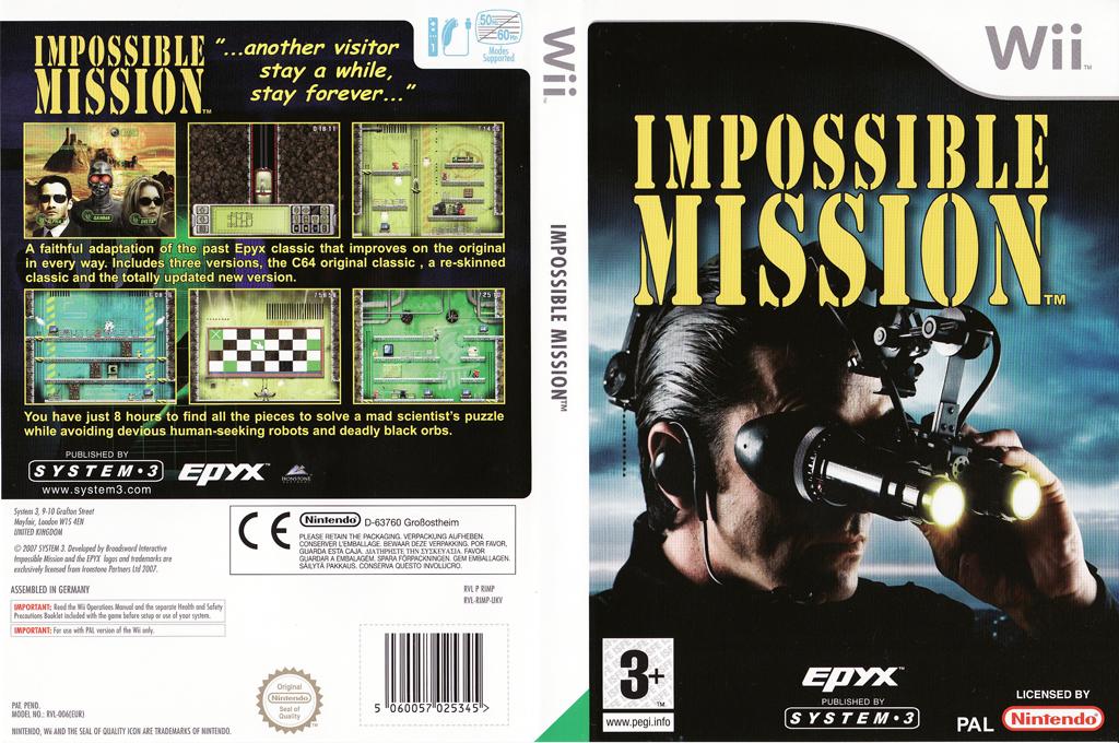 Impossible Mission Wii coverfullHQ (RIMP6M)