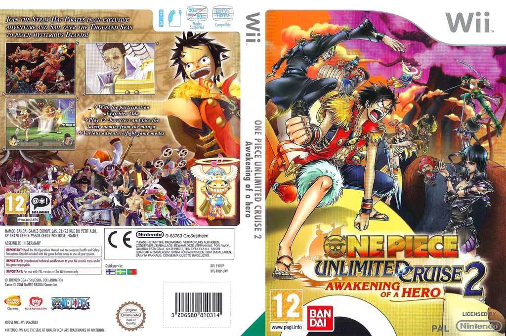 One Piece Unlimited Cruise 2: Awakening of a Hero Wii coverfullHQ (RIUPAF)