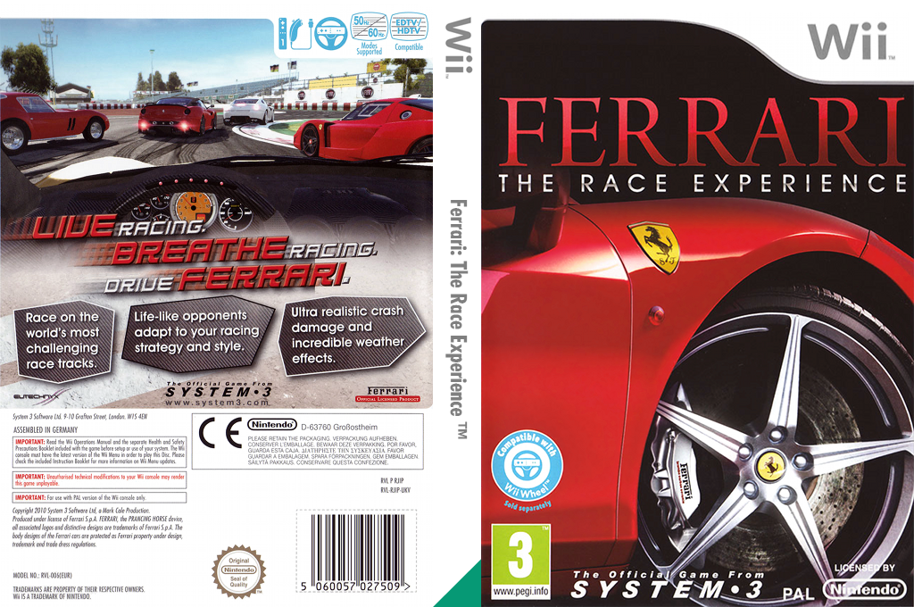 Ferrari: The Race Experience Wii coverfullHQ (RJIP6M)