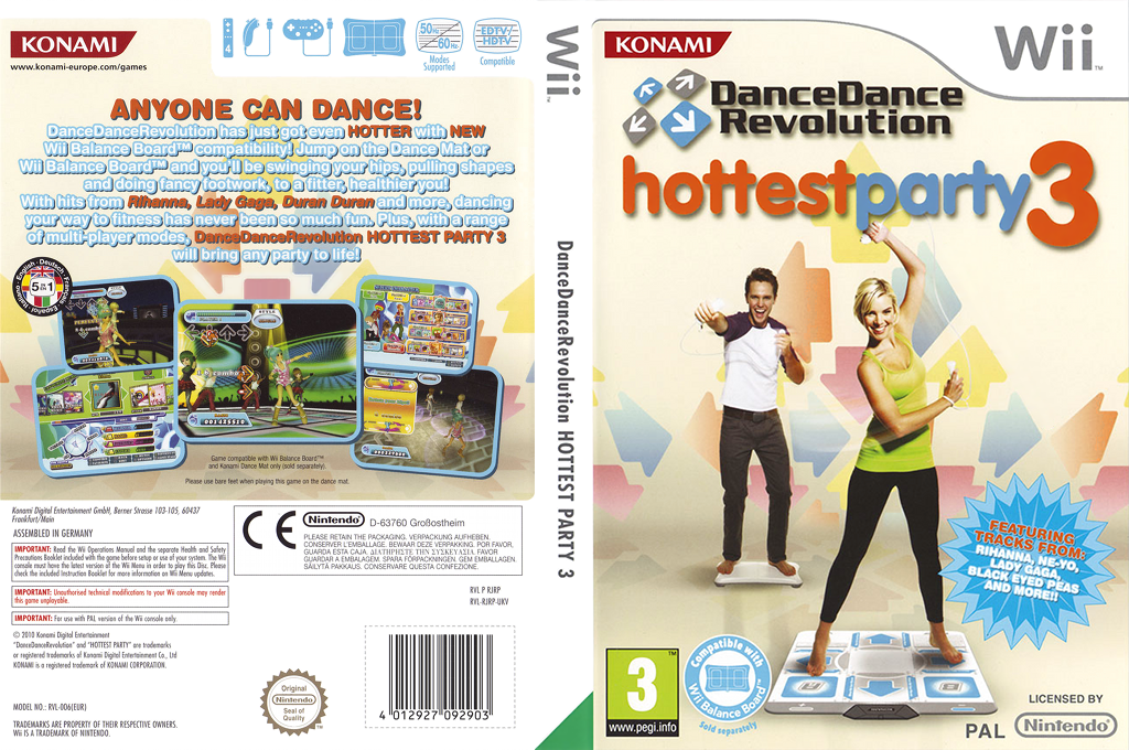 Dance Dance Revolution: Hottest Party 3 Wii coverfullHQ (RJRPA4)