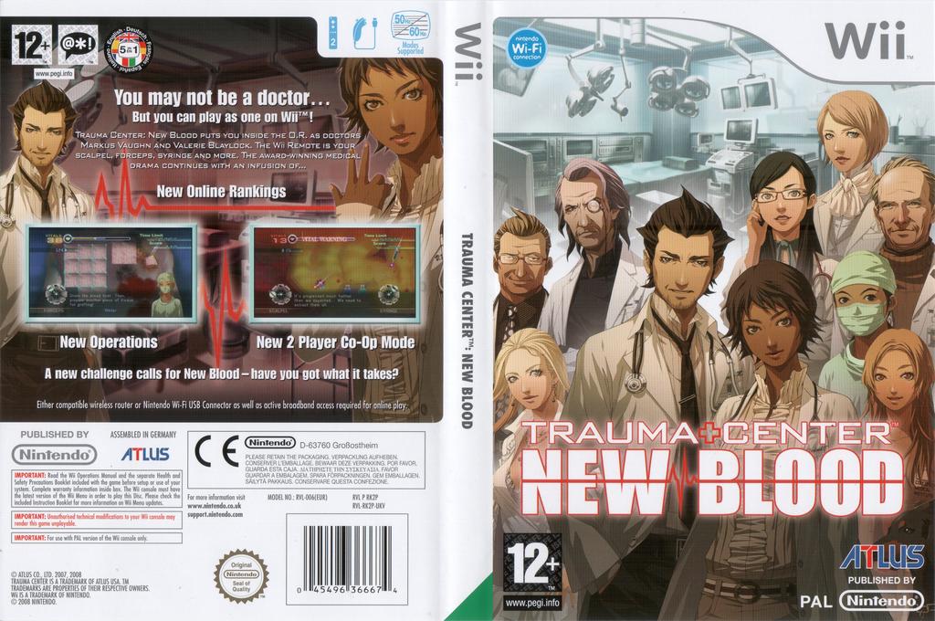 Trauma Center: New Blood Wii coverfullHQ (RK2P01)