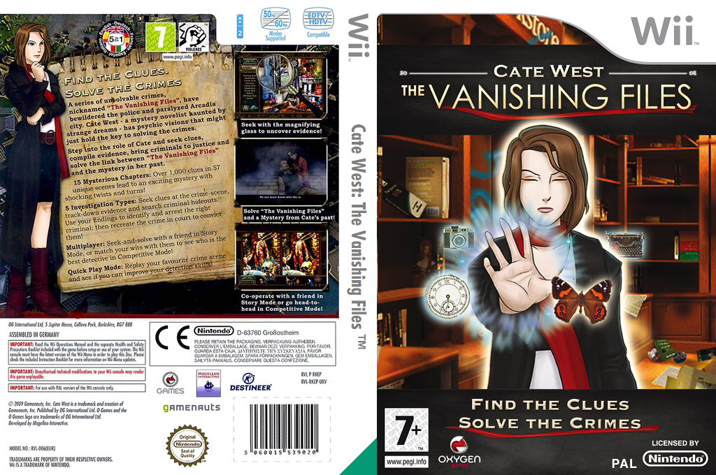 Cate West: The Vanishing Files Wii coverfullHQ (RKEPGN)