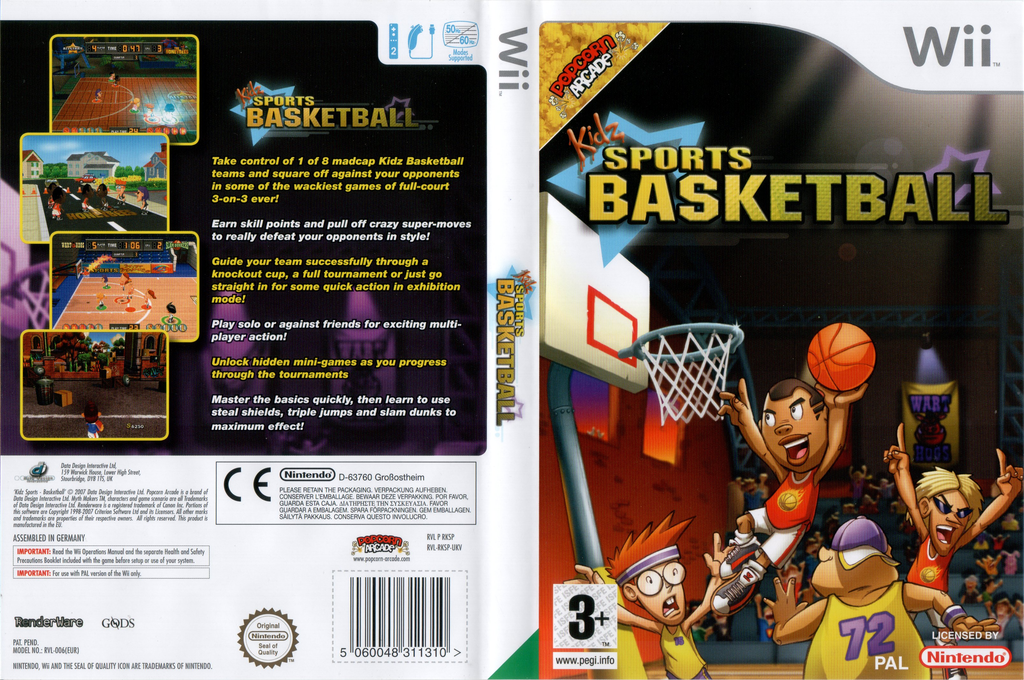 Kidz Sports: Basketball Wii coverfullHQ (RKSPUG)