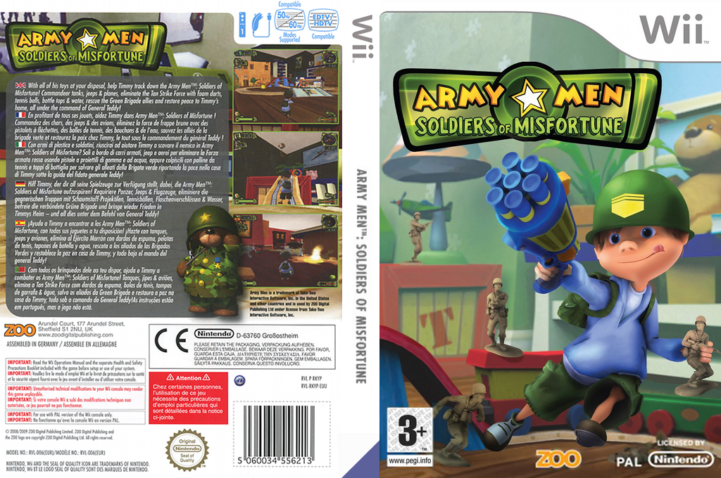 Army Men: Soldiers of Misfortune Wii coverfullHQ (RKYP7J)