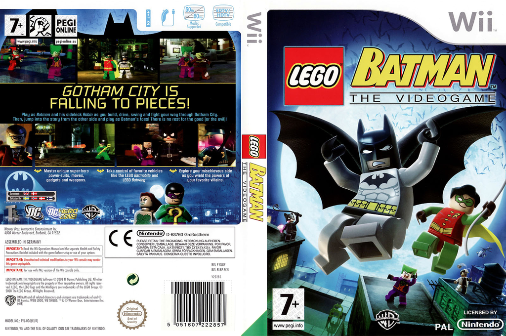 LEGO Batman: The Videogame Wii coverfullHQ (RLBPWR)