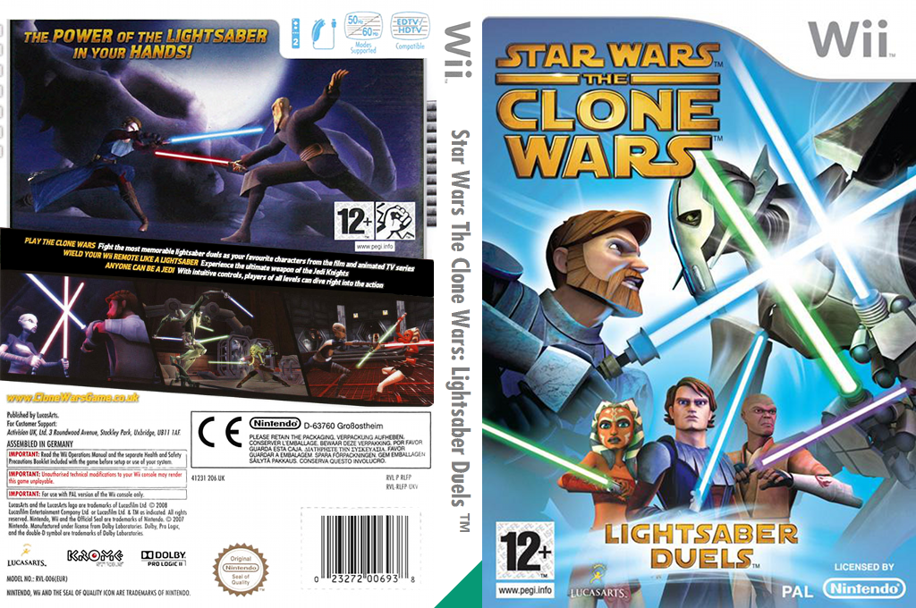 Star Wars The Clone Wars: Lightsaber Duels Wii coverfullHQ (RLFP64)