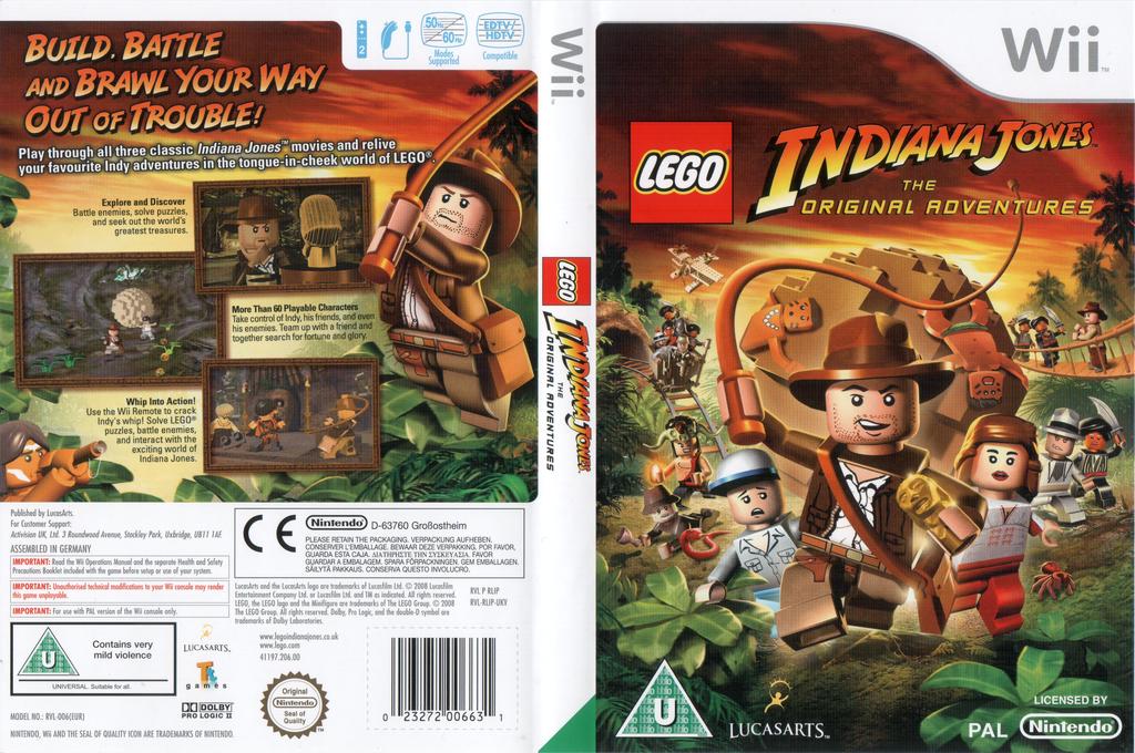 LEGO Indiana Jones:The Original Adventures Wii coverfullHQ (RLIP64)