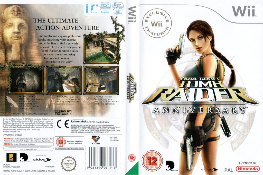 Tomb Raider: Anniversary Wii coverfullHQ (RLRP4F)