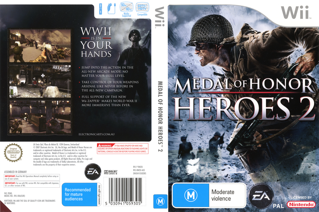 Medal of Honor: Heroes 2 Wii coverfullHQ (RM2U69)