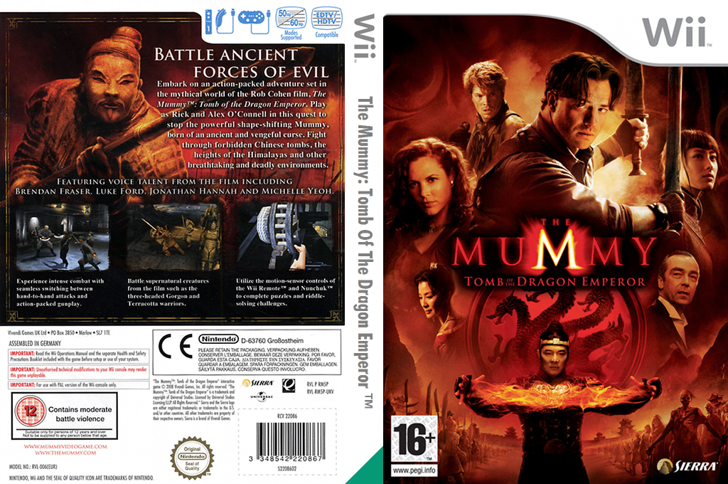 The Mummy: Tomb Of The Dragon Emperor Wii coverfullHQ (RM5P7D)