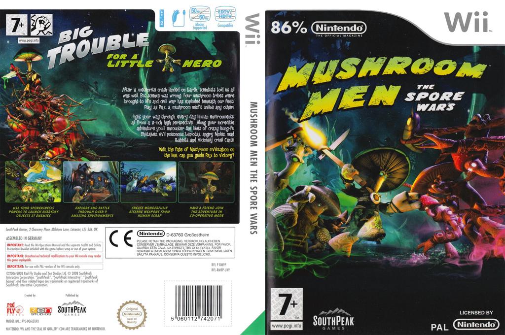 Mushroom Men: The Spore Wars Wii coverfullHQ (RM9PGM)