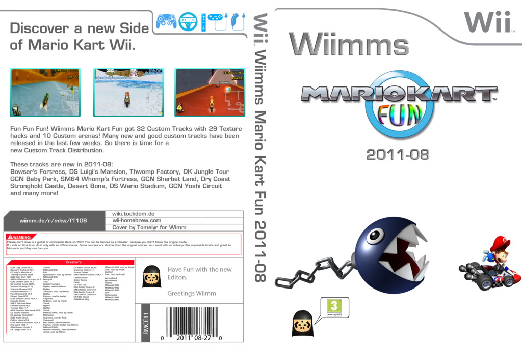 Wiimms MKW Fun 2011-08.pal Wii coverfullHQ (RMCP11)