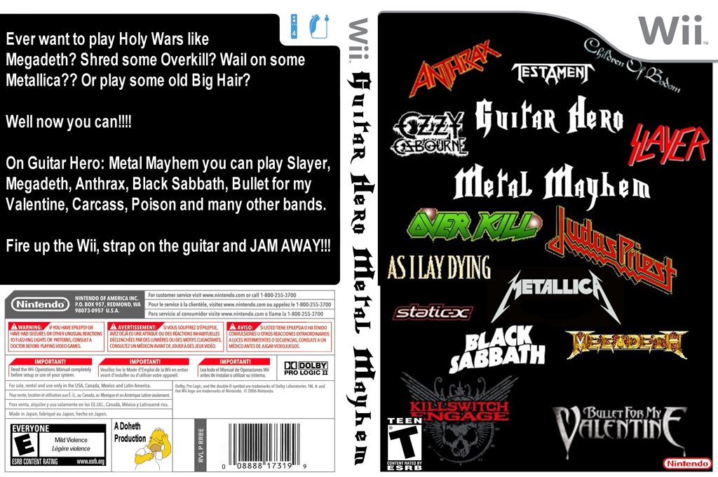Guitar Hero III Custom : Metal Mayhem Wii coverfullHQ (RMMP52)