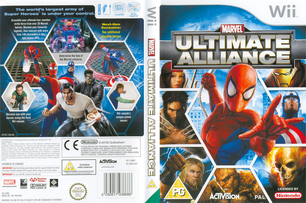 Marvel: Ultimate Alliance Wii coverfullHQ (RMUP52)