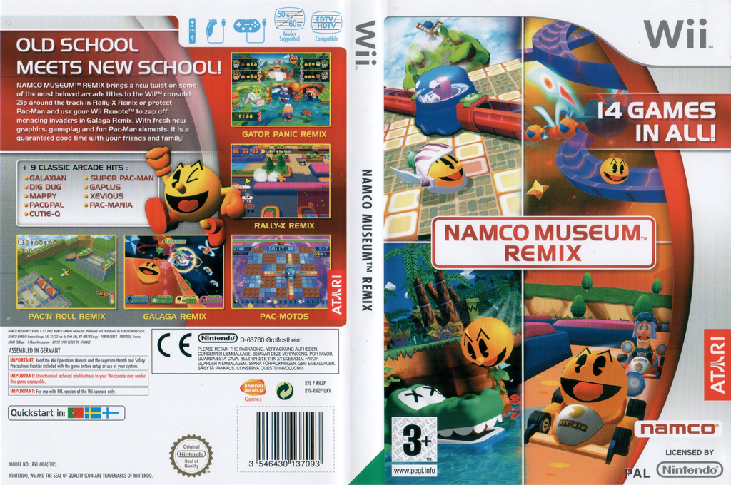 Namco Museum Remix Wii coverfullHQ (RN2P70)