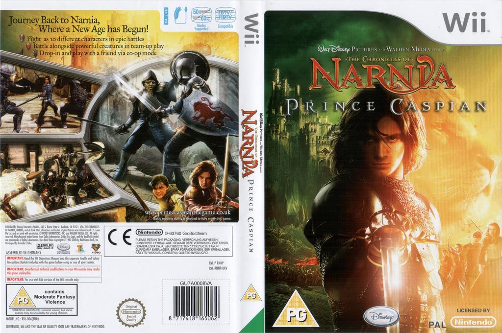 The Chronicles of Narnia: Prince Caspian Wii coverfullHQ (RNNP4Q)