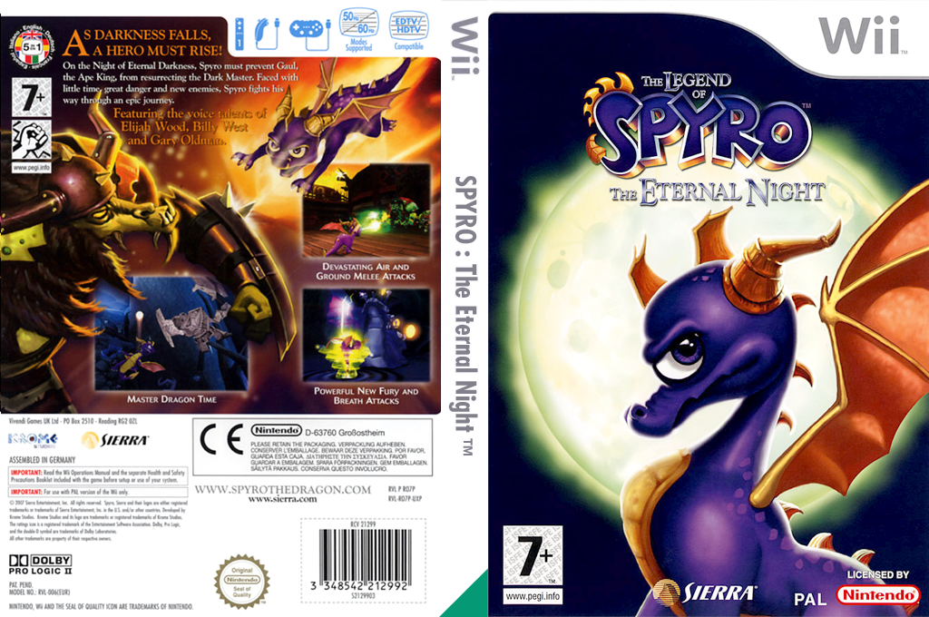 The Legend of Spyro: The Eternal Night Wii coverfullHQ (RO7P7D)