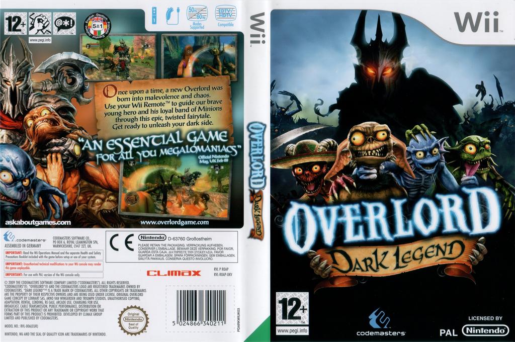 Overlord: Dark Legend Wii coverfullHQ (ROAP36)