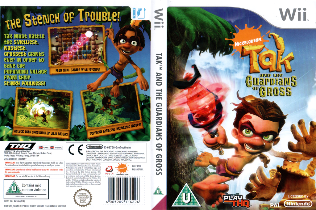 Tak and the Guardians of Gross Wii coverfullHQ (ROGP78)